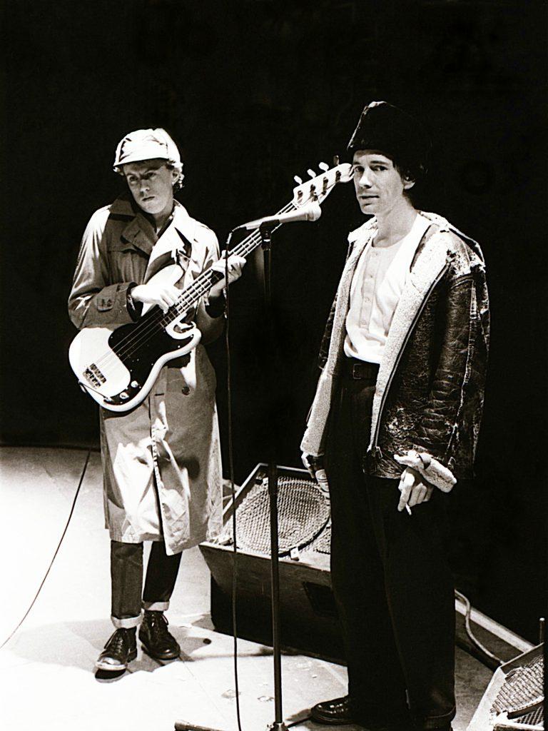 Pete Jones and John Lydon cracking jokes